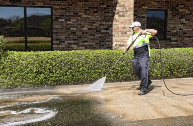 commercial concrete cleaning in norman
